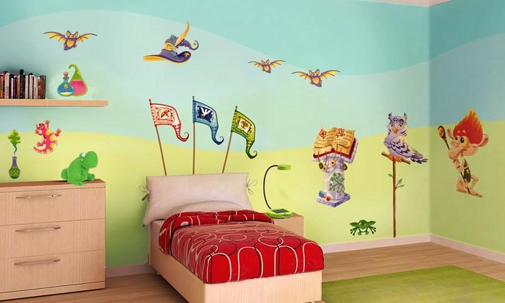 Stickers murali bambini cameretta a scuola di magia - Stickers cameretta bambino ...